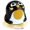 GOGROOVE Groove Pal Jr. Penguin Portable Media Speaker with Glowing LED Base - GG-PAL-JRPENGUIN