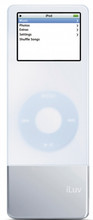 ILUV Silicone Case and Battery for iPod Nano White - I602WHT