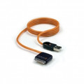 ISIMPLE 30-Pin USB Cable with 180 Degree Swivel Dock Connector for iPodiPhone Charging or Syncing - IS9403