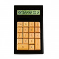 IMPECCA CB1206 12-Digits Bamboo Custom Carved Desktop Calculator - Black/Ivy - CB1206