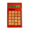 IMPECCA CB1205 12-Digits Bamboo Custom Carved Desktop Calculator - Cherry Color - CB1205