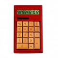 IMPECCA CB1204 12-Digits Bamboo Custom Carved Desktop Calculator - Mahogany Color - CB1204