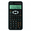 SHARP 12-Digit Scientific Calculator with 469 functions and Large 12-digit 2-line LCD - EL-506X-WH