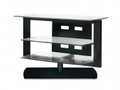 BDI Icon 3 Shelf Swiveling Flat Panel TV Stand Gloss Black - 9423BK