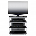 BDI Vexa Collection Four-Shelf TVAudio Stand Silver - 9221SL