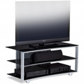 BDI VEXA 3-Shelf TV Stand Fits up to 50-inch TVs Silver - 9234SL