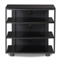 BDI Vexa Collection Four-Shelf TVAudio Stand Black - 9221BK