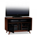BDI ERAS Double Wide Tall Enclosed Cabinet for up to 55-inch Flat Panel TV Chocolate Stained Walnut finish - 8358CWL