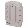 RCA PSWTS6 Swivel Surge Protector with 6 Rotating Outlets - PSWTS6