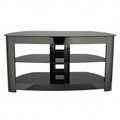 SANYO Basic Foundations 44-Inch Curved Black Lacquer TV Stand Black - BFAV344