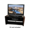 Tech Craft 48-Inch Wide AV Stand Metal Glass & Walnut - WEDG48