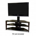 Tech Craft 42-inch Wide Flat Panel Stand Metal Glass & Walnut - FLEX42W