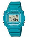 CASIO F108WH 30m Water Resistance Digital Watch with Turquoise Resin Strap - F108WH-3A2