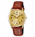 CASIO Classic 3-Hand Analog Water Resistant Mens Watch with Genuine Leather Band - MTP1094Q-9B