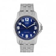 CASIO 3-Hand Analog Water Resistant Watch with Stainless Steel Band - MTP-1216A-2B
