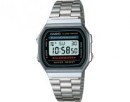 CASIO A168W-1 Classic Digital Water Resistant Watch with EL Backlight - A168WA-1WCH