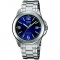 CASIO 30 Meter Water Resistant Stainless Steel 3-Hand Analog Watch with Date - MTP-1215A-2A2