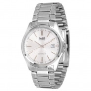 CASIO Classic 3-Hand Analog Water Resistant Mens Watch with Date and Stainless Steel Band - MTP1183A-7A