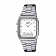 CASIO AQ230A-7D Digital Analog Dual Time Metal Watch - AQ-230A-7DMQ