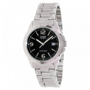 CASIO 30 Meter Water Resistant Stainless Steel 3-Hand Analog Watch with Date - MTP-1215A-1A