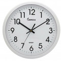 IMPECCA 12 Inch Quiet Movement Wall Clock - White - WCW12M1W