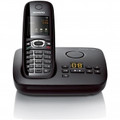 GIGASET DECT Expandable Single Handset System with Caller-ID Digital Answering System Color Display Black - C595B