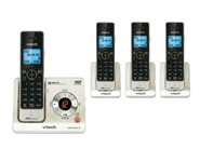 VTECH DECT 6.0 Expandable 4 Handset Cordless Phone System with Digital Answering Device, Caller ID and Push-to-Talk Intercom - LS6426-4