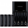SANYO Eneloop XX 4 Position Charger with 4-AA 2500mAh Rechargeable Batteries - HR-MQN10A4N