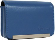 IMPECCA DCS86 Compact Leather Digital Camera Case - Blue - DCS86B