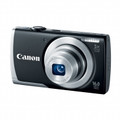 CANON PowerShot A2500 16.0 Megapixel 5x Wide-Angle Optical Zoom 2.7-IN LCD 720p HD Video, Black - 8253B001