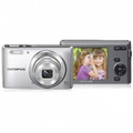 OLYMPUS 14-Megapixel 5X 26mm Wide Optical Zoom 2.7 Inch LCD - Silver - VG165/SLV