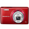 OLYMPUS Stylus VG-180 16-Megapixel 5X 26mm Wide Optical Zoom 2.7 Inch LCD - Red - VG180/RD