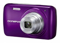 OLYMPUS VH-210 14-Megapixel 5x Wide Optical Zoom 3-inch LCD Display - Grape Purple - OLYVH210P