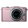 OLYMPUS E-PM1 Mirrorless Micro Four Thirds Digital Camera with 14-42mm II Lens Pink - V206011PU000