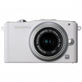 OLYMPUS E-PM1 Mirrorless Micro Four Thirds Digital Camera with 14-42mm II Lens Silver - V206011SU000