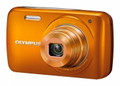 OLYMPUS VH-210 14-Megapixel 5x Wide Optical Zoom 3-inch LCD Display - Orange - OLYVH210O