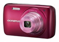 OLYMPUS VH-210 14-Megapixel 5x Wide Optical Zoom 3-inch LCD Display - Apple Red - OLYVH210R
