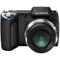 OLYMPUS 16 Megapixel Digital Camera with 21x Wide Optical Zoom and 3.0 Inch LCD - Black - SP620UZ/BLK