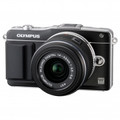 OLYMPUS E-PM2 Mirrorless Micro Four Thirds Digital SLR Camera with 14-42mm f3.5-5.6 II Lens (Black) - V206021BU000