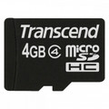 TRANSCEND microSDHC 4GB Memory Card without SD Adapter - TS4GUSDC4