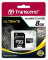 TRANSCEND microSDHC (High Capacity) 8GB Class10 Ultra Speed 133x with SD Adapter - Full HD recording capability - TS8GUSDHC10