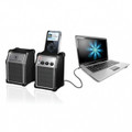 Set of 2 Computer Speakers with MP3 Dock - ITR-300