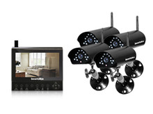 Four Wireless Camera Kit with LCD/DVR/SD - SEC-DIGILCDDVR4