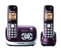 Dect 6.0+, Dual Handset, ITAD, RED - KX-TG6572R