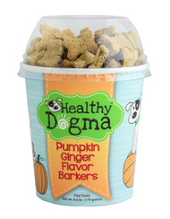 Pumpkin Ginger Flavor Mini Barkers Dog Treats  (6.2 oz CUP)