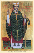 St. Peter Damian Icon Postcard