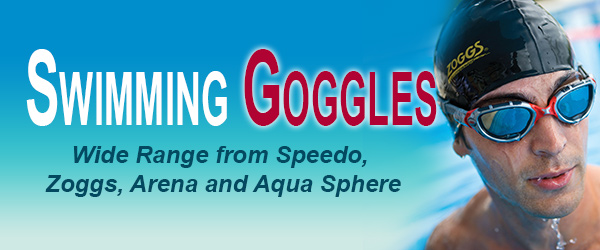 Swimming from Speedo, Zoggs, Arena and Aqua Sphere