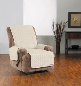 SURE FIT QUICK COVER RECLINER SLIPCOVER BONE (AC2772)