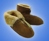 SHEEPSKIN SLIPPER WITH LEATHER SOLE WOMENS 9 (AC2970)