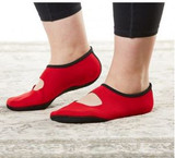 NUFOOT WOMEN'S MARY JANES RED L (AC3942)